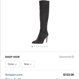 Sam Edelman Olencia black knee high boot, stiletto